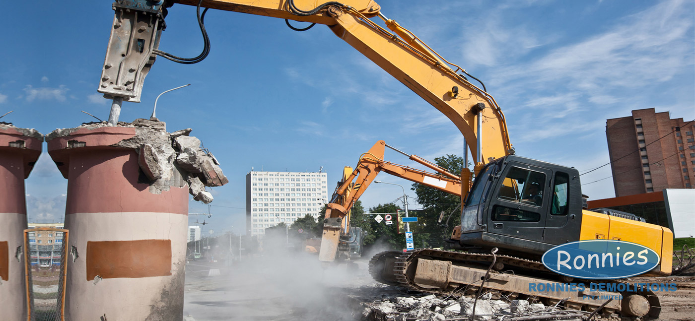 outdoor commercial demolition